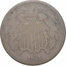 **TWO CENT** 1865 US 2 Cent Piece First Coin with In God We Trust Motto *403
