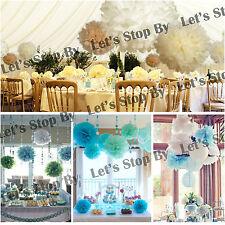 "30X MIX 3 SIZE 4"" 8"" 12"" Tissue Paper Pom-Poms Flower Wedding Party Home Decor"