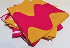 Marimekko Target Cotton Napkins (4) Hot Pink Yellow White NEW