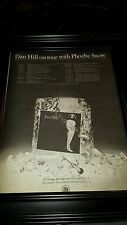 Dan Hill And Phoebe Snow Rare Original Tour Promo Poster Ad Framed!