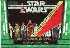 Star Wars 40th Anniversary Green Base Card #62 Kenner Action Figures are Introd