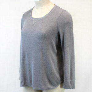 Cacique by Lane Bryant Plus Grey Soft Cozy Thermal Lounge Pajama Top Size 26/28