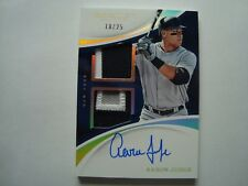 2017 Panini Immaculate Collection Aaron Judge Auto & Dual Patch Rookie #'d 18/25