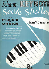 Vintage 1963 John Schaum 'Keynote Scale Speller' for Piano or Organ