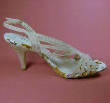 Marco Tozzi Ladies Beige Stiletto Faux Suede Sandals Shoes Size 7 EU 40