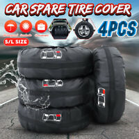 4x Universal Car Spare Tire Wheel Protection Cover Storage Bag Carry Tote S / L