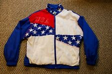 Vintage 1996 ATLANTA OLYMPIC GAMES STARTER JACKET - USA FLAG M Medium RARE