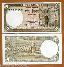 Bangladesh 5 TAKA UNC  OLD ISSUE # 489
