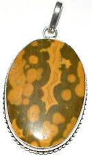 48 Cts 100% Natural Jasper Sterling Silver Pendant Jewelry L 43