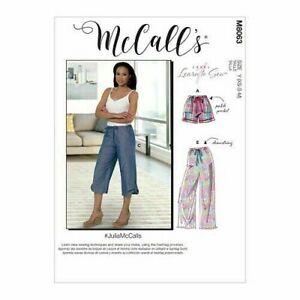 McCalls Pants Sewing Pattern 8063 (XS-M) (L-XXL) Misses Drawstring Shorts Boxer