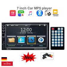 AUTORADIO 7 Zoll 2 DIN HD TOUCHSCREEN GPS NAVIGATION NAVI MIT Rückfahrkamera DE