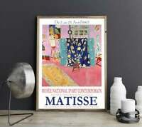 Mat*sse Exhibition Poster 1963 Museum Decor Art Signature Wall Posters/ Print