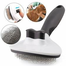 Handle Shedding Pet Dog Cat Hair Brush Grooming Trimmer Comb Self Cleaning Tool