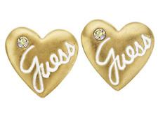GUESS Ufe10921 Ohrringe Herz Edelstahl Ip-gold Glasstein
