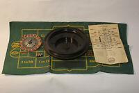 Vtg Josa Games Good Luck Brand Roulette Wheel Metal Spinner, balls & mat - gift