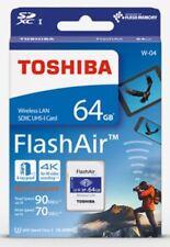 TOSHIBA 64GB FlashAir W-04 Wireless WiFi SDXC SD Memory Card UHS-I U3 4K Class10