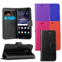 For Huawei P8 Lite 2017 Case - Premium Leather Wallet Flip Case Magnetic Cover