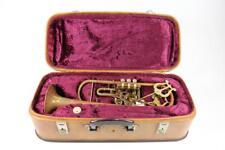 * Altes Blechblasinstrument Trompete gemarkt Amati Kraslice mit Koffer