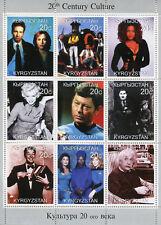 Kyrgyzstan 1999 MNH Culture Star Trek Marilyn Monroe Einstein 9v M/S Stamps
