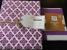 NEW Pottery Barn Teen TWIN Cloverfield Duvet & Suite Sham PLUM Purple