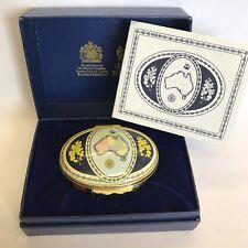 Halcyon Days Enamel Trinket Box Bicentenary Of Australia 1988 Boxed With COA