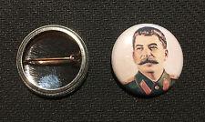 """Josef Stalin 1"""" Button Pin - Soviet Union Communist - Buy 2 Get 1 Free"""