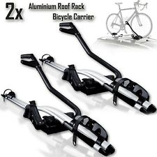 2x Aluminium Alloy Roof Rack Mounted Frame Holding Bike Bicycle Carrier Lockable