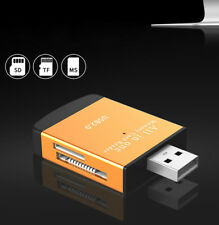USB2.0 4-in-1 Compact Flash Multi Memory Card Reader Adapter TF MicroSD MS