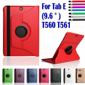 Leather Rotating Smart Case Cover for Samsung Galaxy Tab E 9.6 inch T560 Tablets