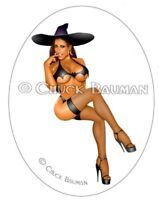 Sexy Naughty Witch Jessica Canizales pin-up girl sexy Halloween sticker decal