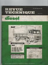 REVUE TECHNIQUE Diesel DAF FA FT 2105 2305 DH DHR DHU RTD camion