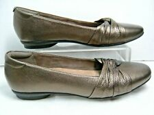 Clarks Artisan Womens Shoes 13288 Size 9 M Bronze Leather Slip on #R