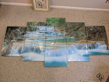 5 pieces canvas wall art - waterfall landscape