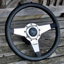 Volant Cuir Moto-Lita Lecarra 36cm Complet Matra & Autres Anciennes