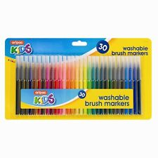 8 x 30 Assorted Colour Washable Markers Pack Kids School Art Craft - New