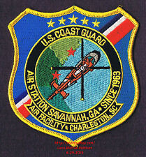 LMH PATCH Badge  USCG AIR STATION  Helicopter Rescue  COAST GUARD  Savannah GA