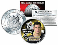 2005-06 SIDNEY CROSBY Royal Canadian Mint Medallion NHL DEBUT Rookie Coin