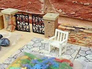 BRITAINS FLORAL GARDEN 1960's as shown, playset paving fence wall planters