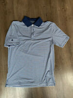 BROOKS BROTHERS Performance Series Men's Polo Shirt Blue Striped Size Small
