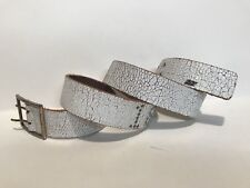 ABERCROMBIE & FITCH - Women's Casual Fashion Belt - Off White Leather - Size L