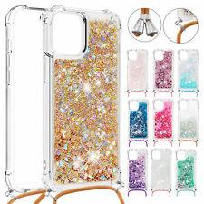 For iPhone 11 Pro Max XS XR 8 7+ SE2 6s Liquid Quicksand Case Rubber Strap Cover