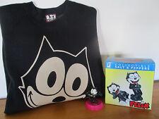 FELIX the Cat Lot 4 Items  Salt & Pepper Set  Large Sweat Shirt & Toy Figure