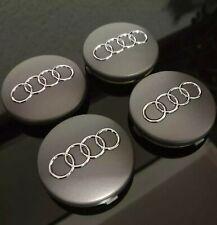 4x Audi Nabendeckel Nabenkappen Felgendeckel 60mm Titangrau, 4B0601170