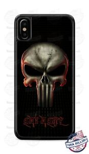 Customized The Punisher Skull Phone Case Cover Fits iPhone Samsung LG etc