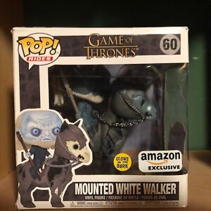 Mounted White Walker Amazon Exclusive Glow In The Dark Funko Pop Rides 60