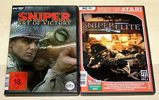 2 PC SPIELE SET - SNIPER ELITE & SNIPER ART OF VICTORY