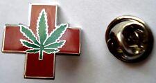 MEDICAL MARIJUANA Legalize Hemp Sativa Weed Pot Cannabis Hat Jacket LAPEL PIN