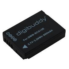 2x 890mAh,Digibuddy Batería Premium para Panasonic dmw-bcg10e,Leica bp-dc7