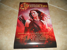 THE HUNGER GAMES Catching Fire SOUNDTRACK 2 Sided PR0MO POSTER Jennifer Lawrence