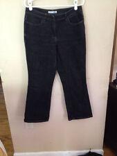 Chico's Platinum Black Jeans Denim Size 1 Short 8 10